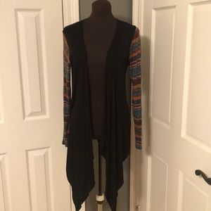 Shrug with Aztec Design sleeves